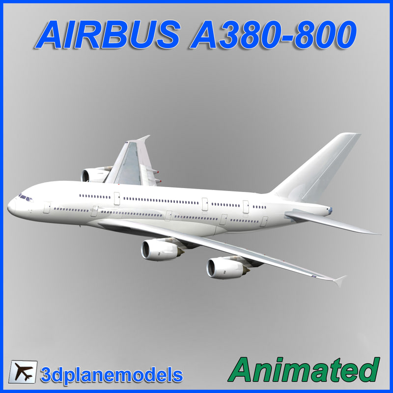 3d dxf airbus a380-800