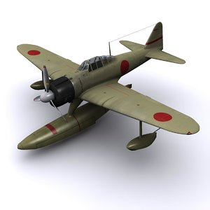 a6m fighter a6m2-n 3d 3ds
