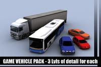 vehicles sedan bus truck 3d fbx