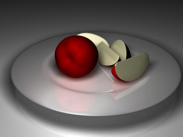 apple 3d fbx