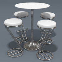 Azais Barstool & Trevise Snack Table
