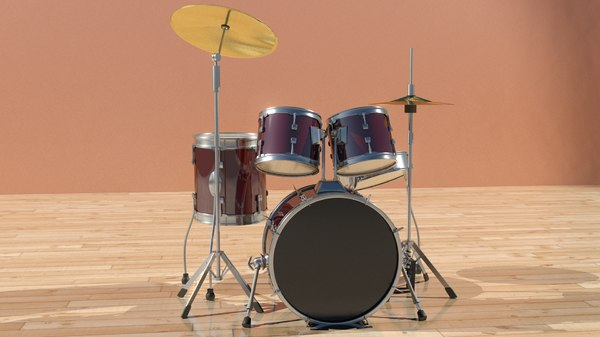 drums kit percussion 3d max