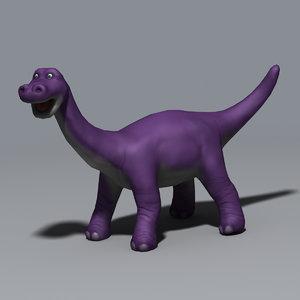 3d dinosaur cartoon model