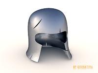 3d model knight s helmet