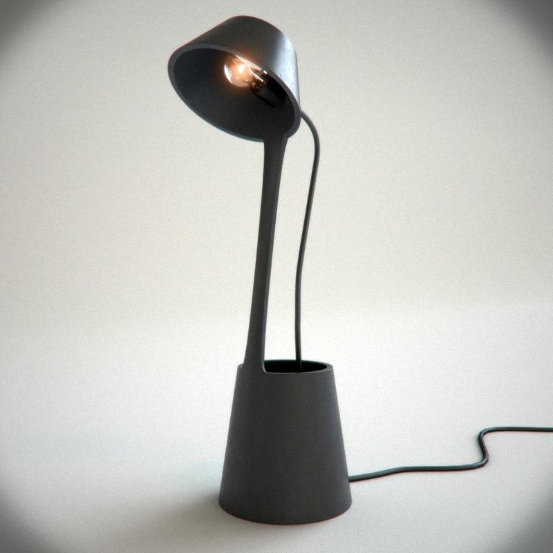 lean table light tom dixon 3d model