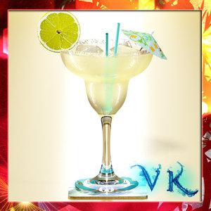 3d liquor margarita model