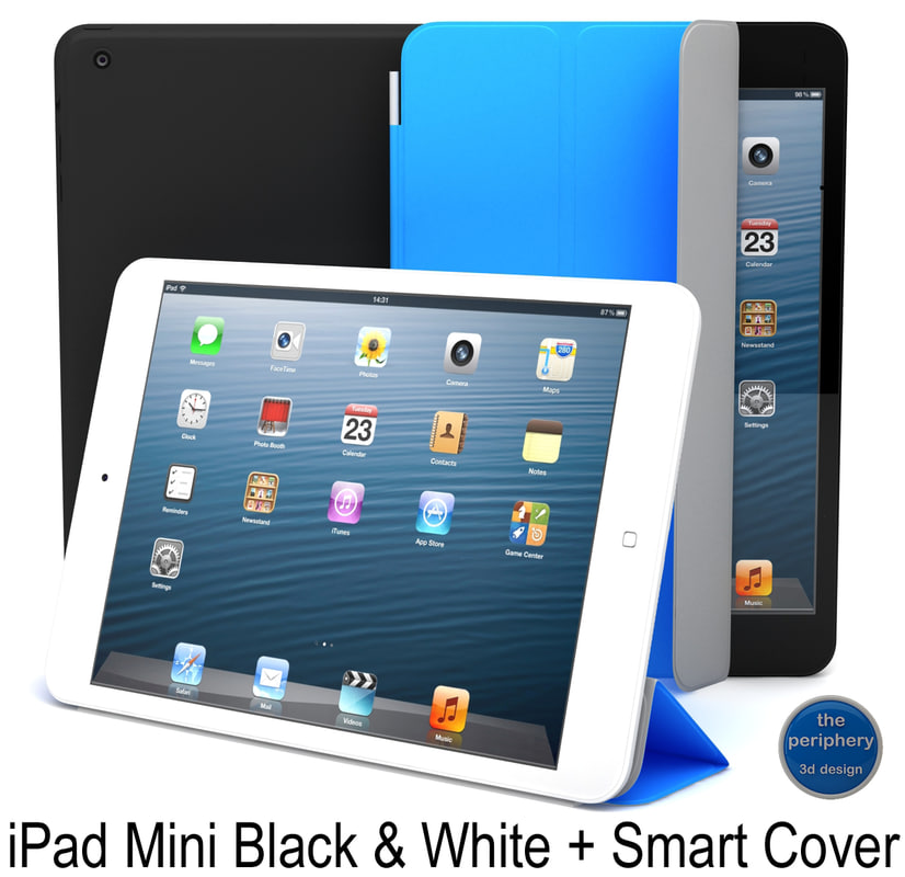 3d model apple ipad mini smart