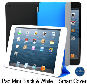 3d model apple ipad mini smart