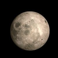 free moon 3d model