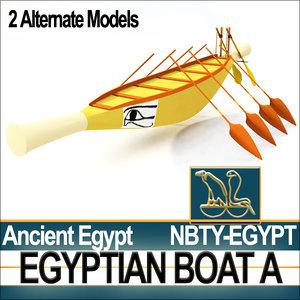 3d model of ancient egypt boat