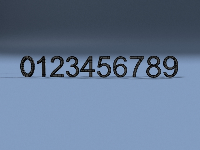 3d lwo numbers 1 2