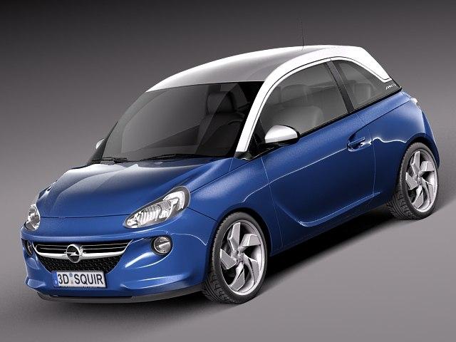 3d model opel adam city car
