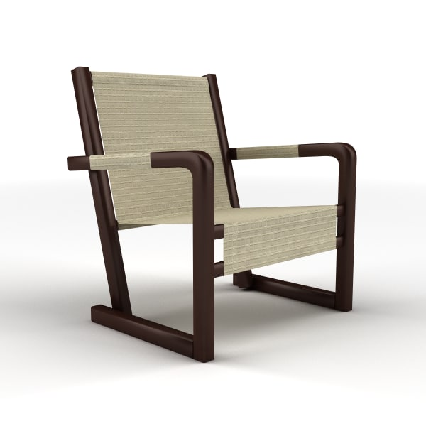 3d canvas recliner chair model