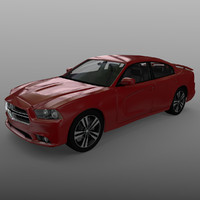 blend photorealistic 2012 dodge charger