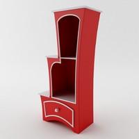3d model of surreal cabinet