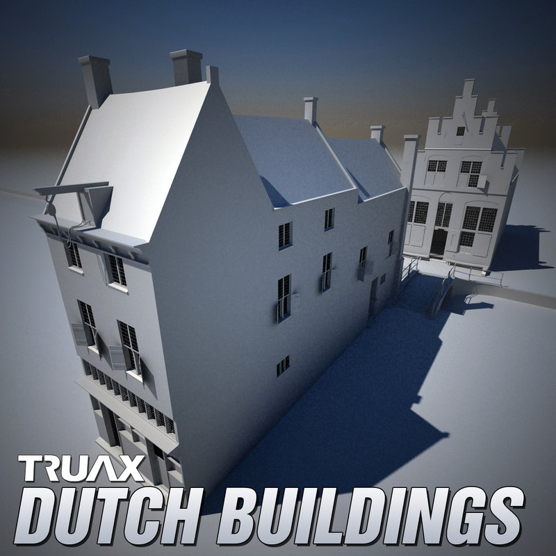 3d model 17th century dutch buildings