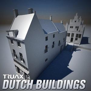 3d model 17th century dutch buildings