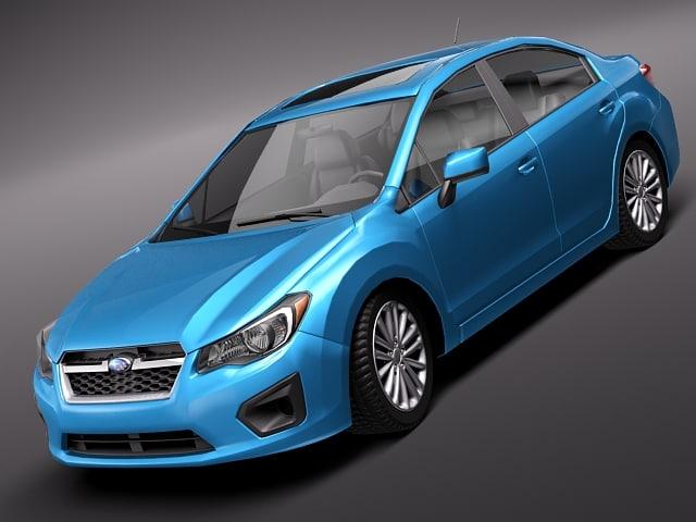 3d model subaru impreza 2012
