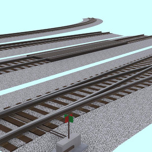 3d model pack interchangeable track section