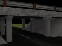 underpass bridge 3d model