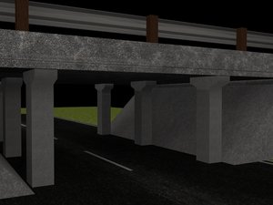 underpass bridge 3d model