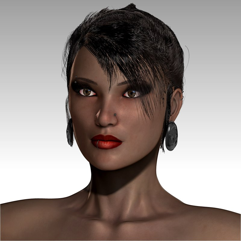 realistical woman chandra 3d model