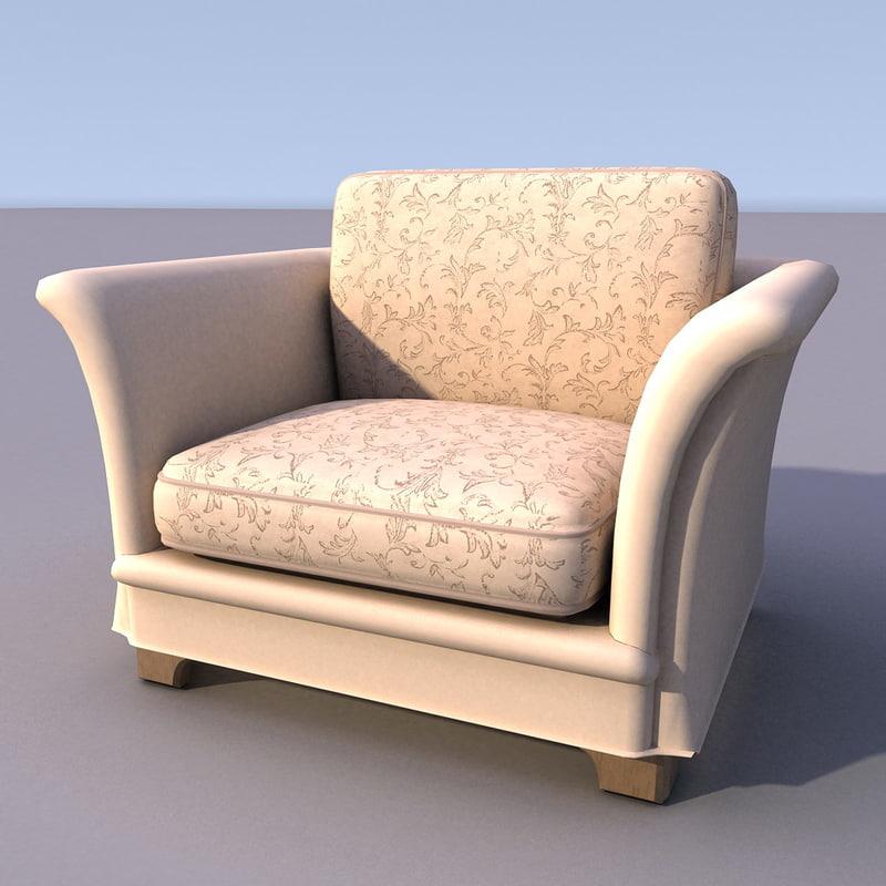 sofa armchair 3ds