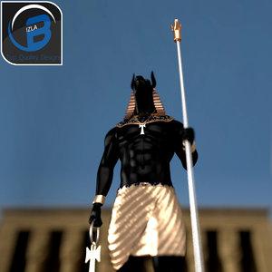 3d model of statue human body