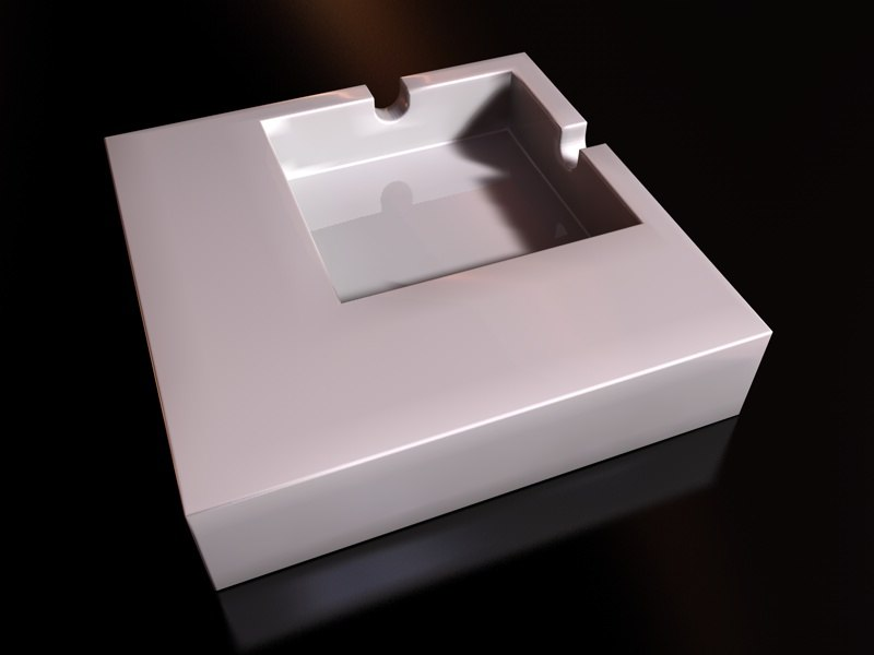 ashtray square 3d model