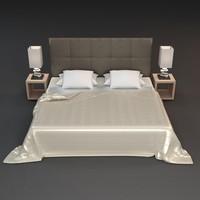 3d nightstand lamp beds model