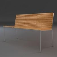 outdoor bench 3d model