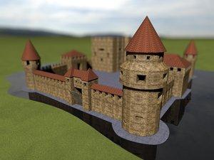 3d medieval castle hdri environment