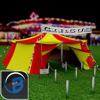 circus tent 3d obj