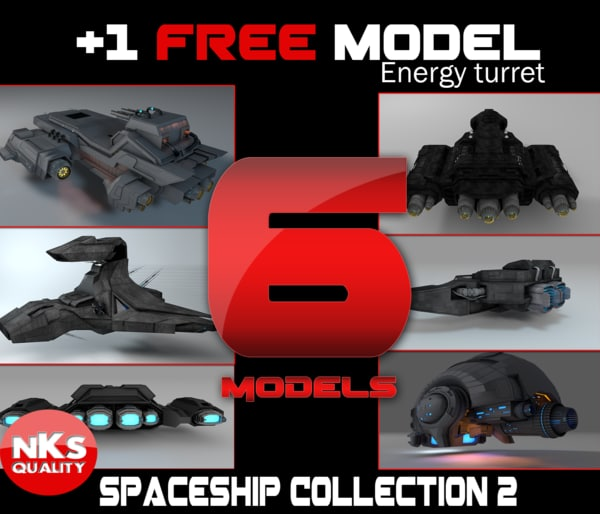 sci fi space 3d model