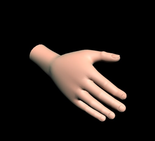 3ds max cartoon character hand