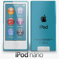 3d model apple ipod nano 2012