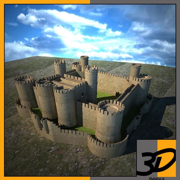 3d max harlech castle