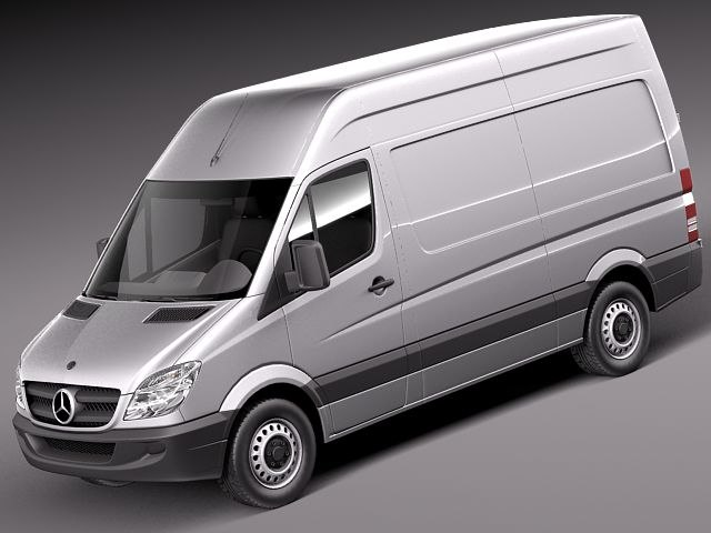 3d mercedes sprinter ii short model
