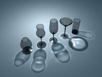set drinking glasses 3d ma