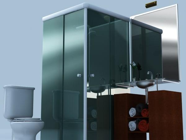 bath bathroom 3d max