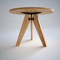 3d guéridon table