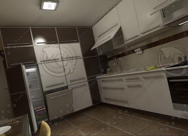 kitchen furnitures 03 3d model