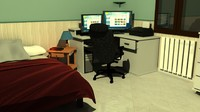 Bedroom with computer