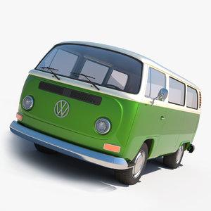 volkswagen microbus 3d model