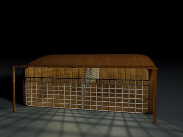 horses stable 3d c4d