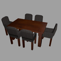 wooden diner table and chairs