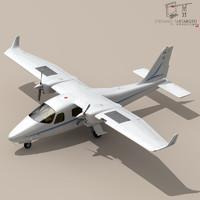3d model p2006t aircraft engines