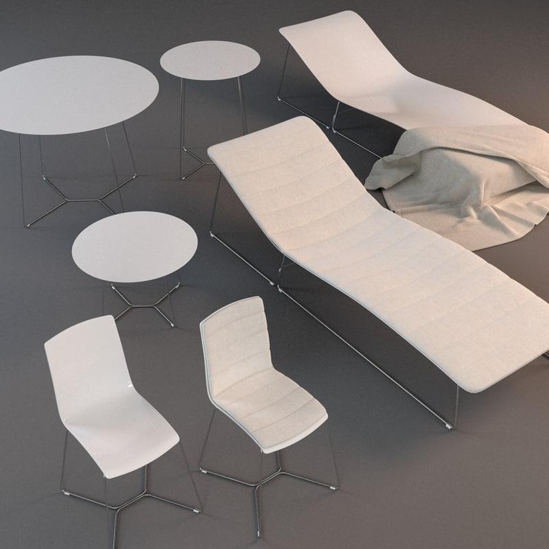 viteo garden furniture chair 3d model