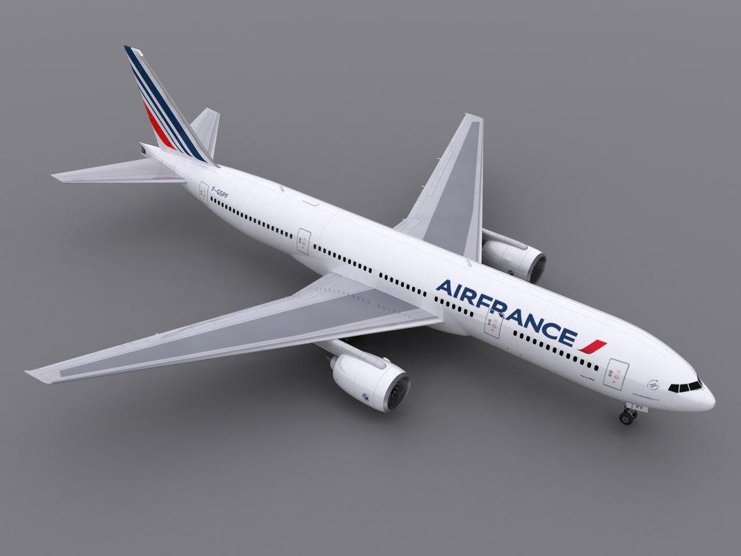 aircraft air france 3d model