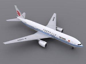 aircraft air china 3d model